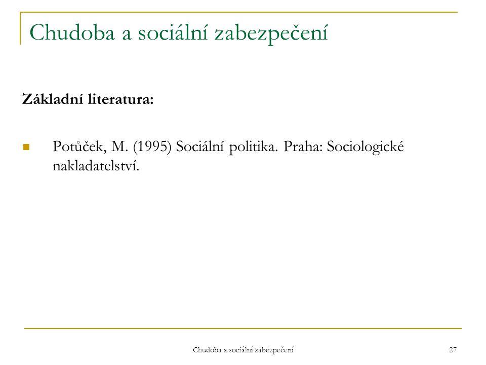 Chudoba a sociální zabezpečení