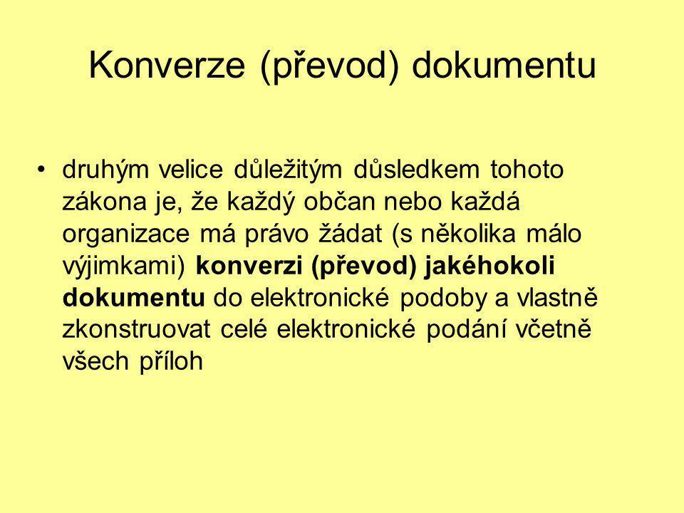 Konverze (převod) dokumentu