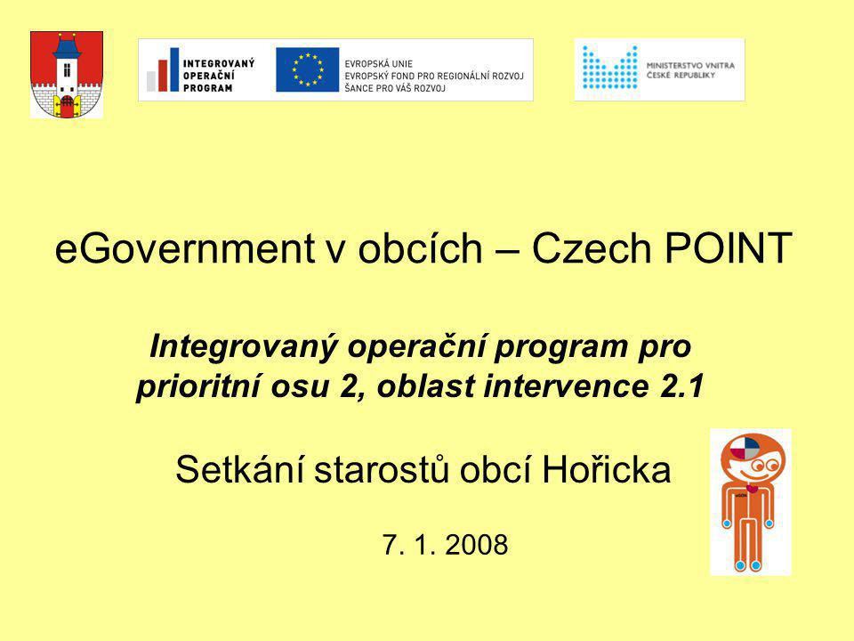 eGovernment v obcích – Czech POINT