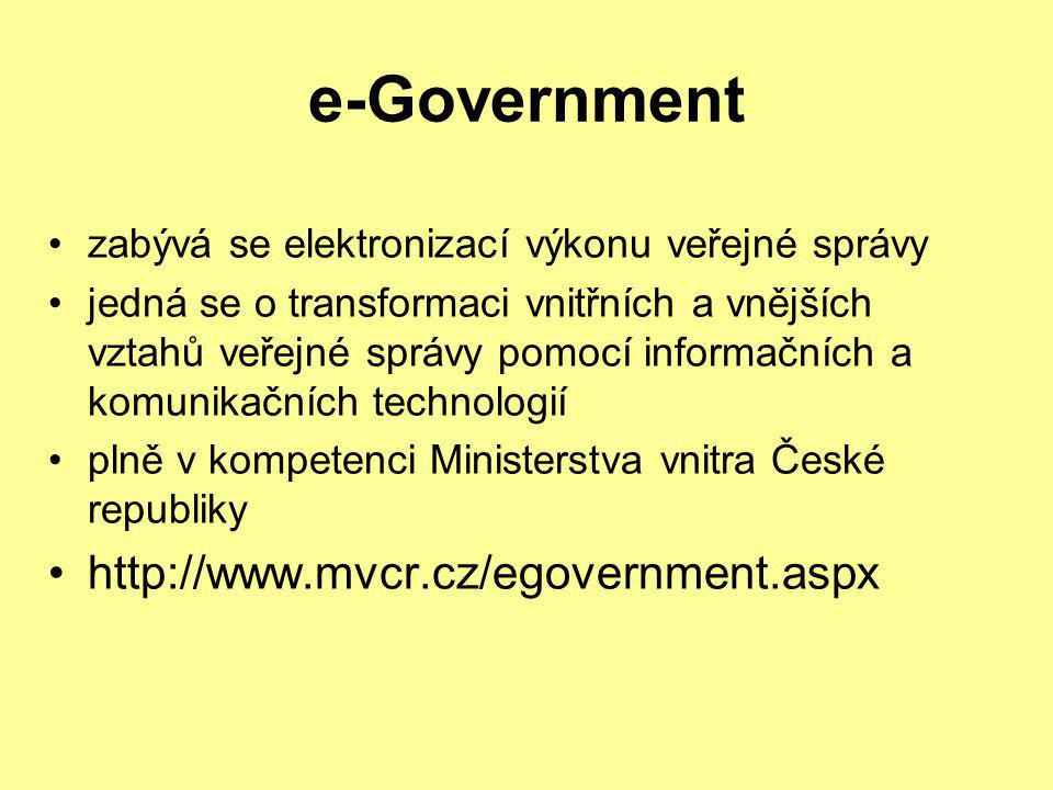 e-Government http://www.mvcr.cz/egovernment.aspx