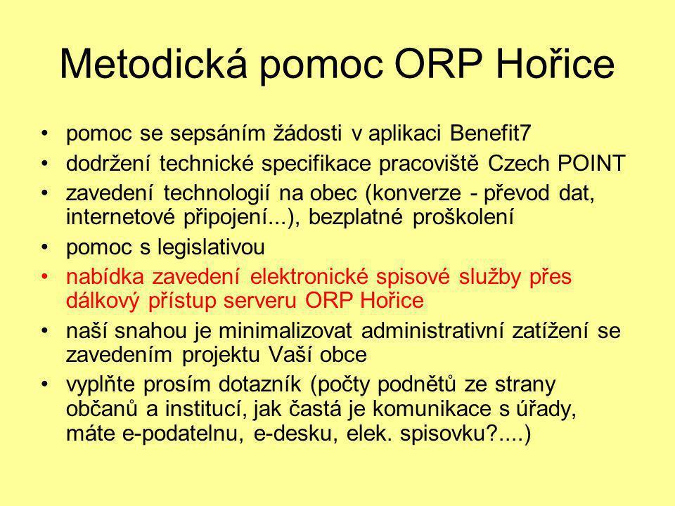 Metodická pomoc ORP Hořice