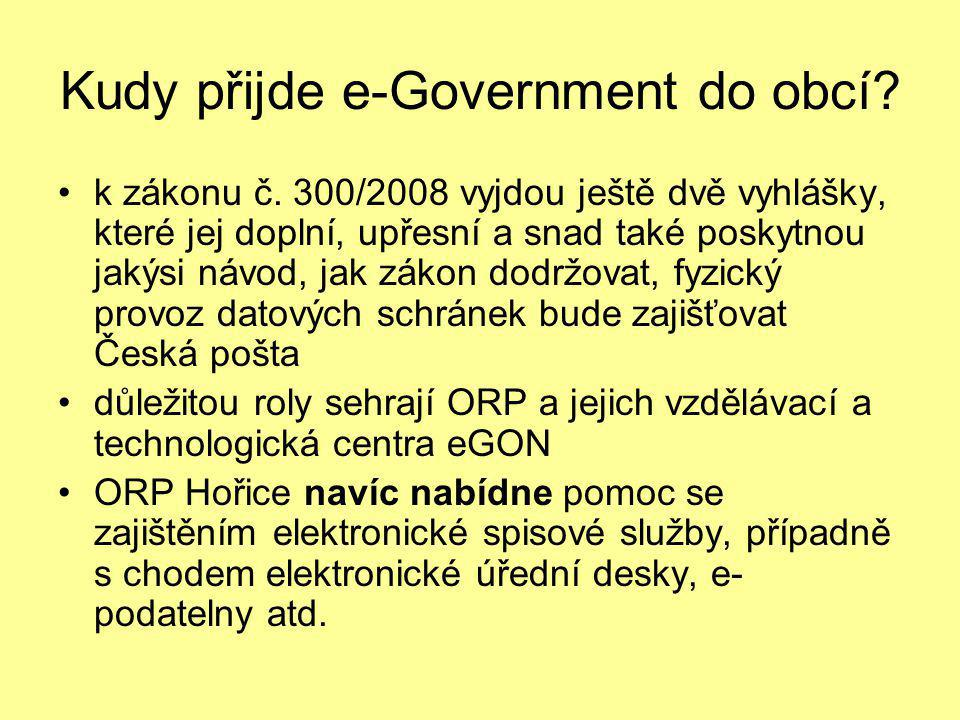 Kudy přijde e-Government do obcí