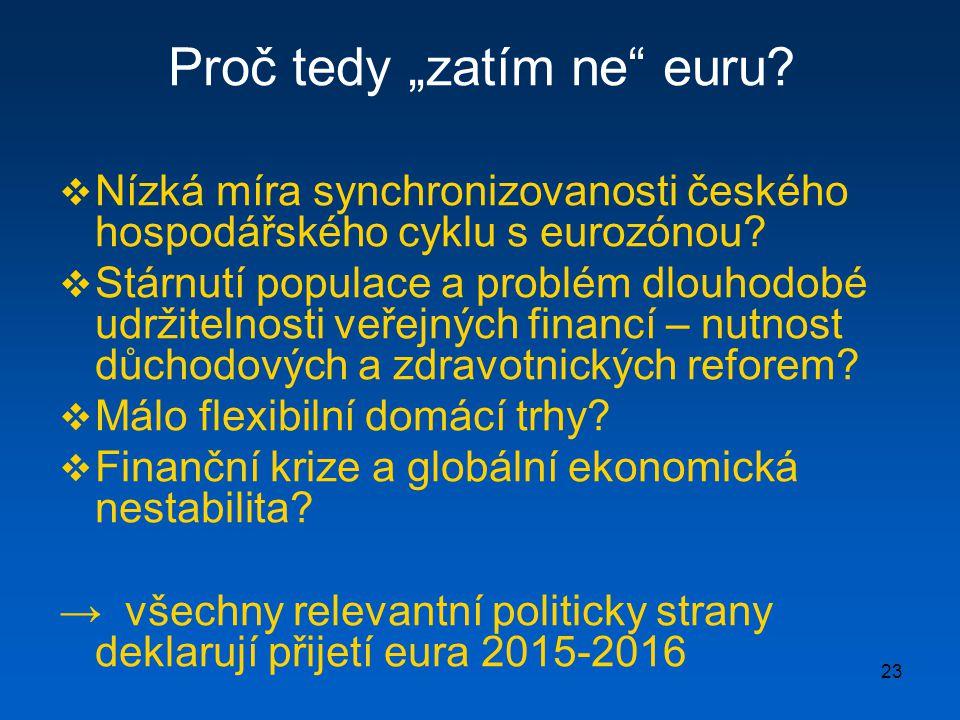 """Proč tedy """"zatím ne euru"""