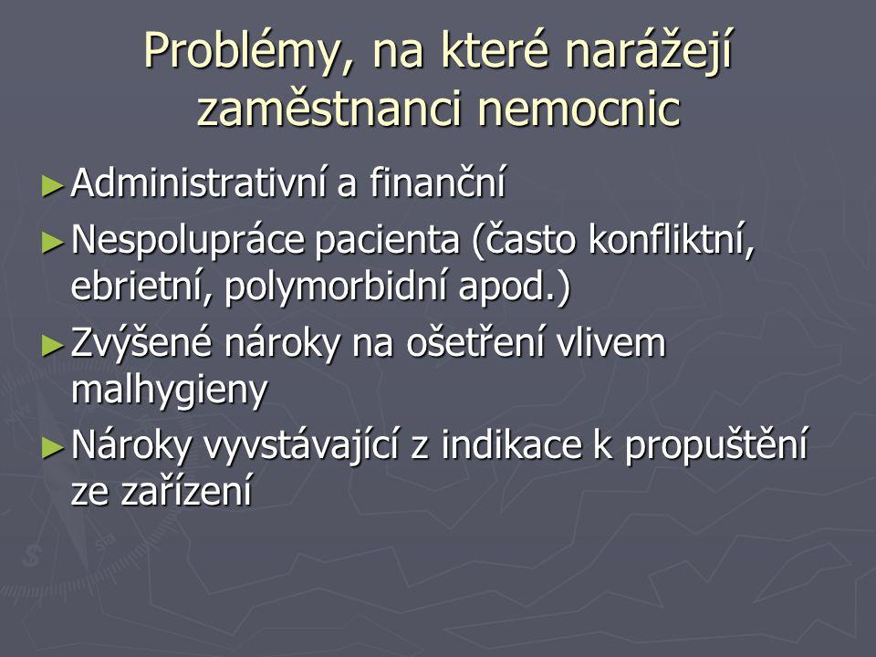 Problémy, na které narážejí zaměstnanci nemocnic