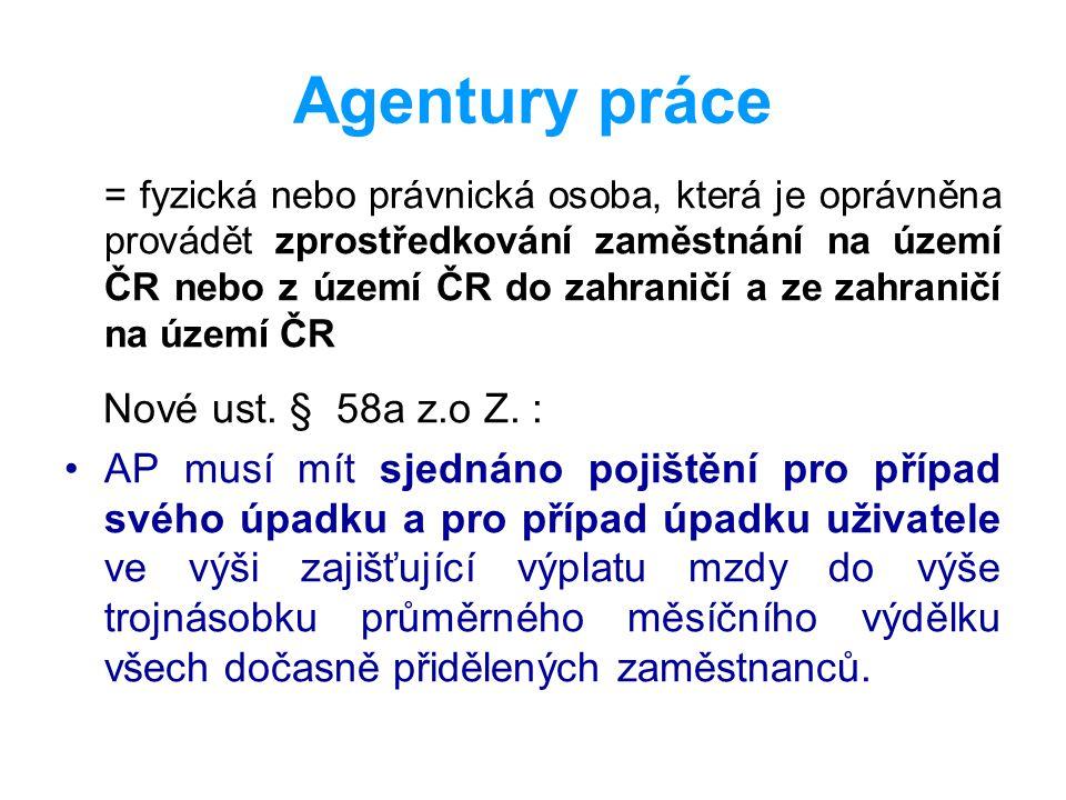 Agentury práce