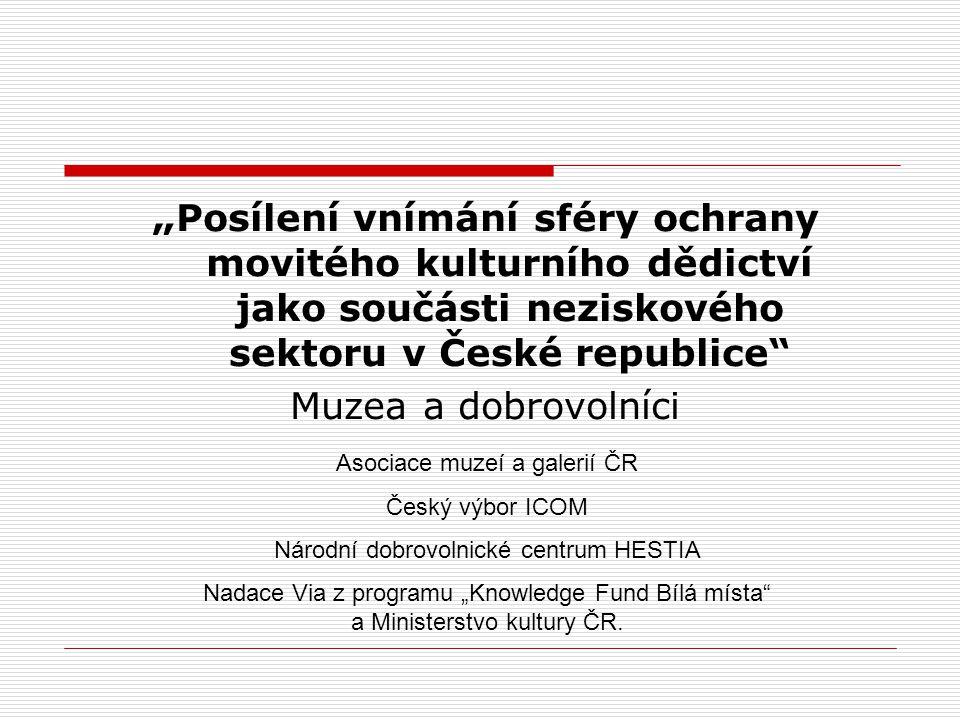 """""""Posílení vnímání sféry ochrany movitého kulturního dědictví jako součásti neziskového sektoru v České republice"""
