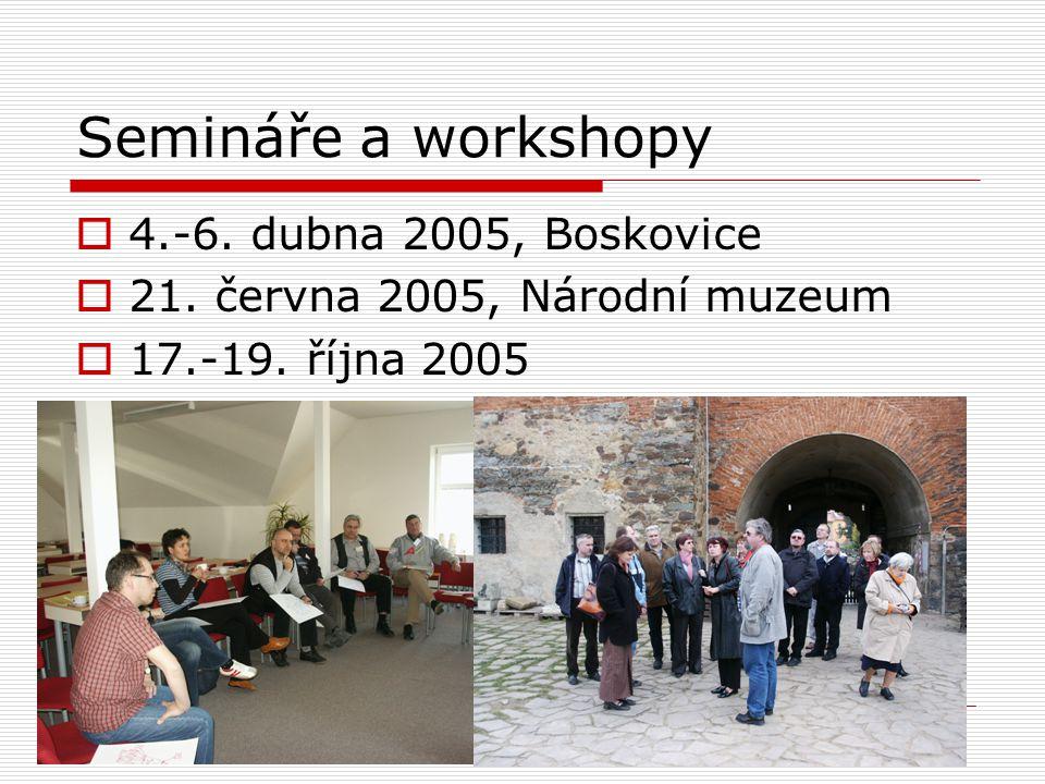 Semináře a workshopy 4.-6. dubna 2005, Boskovice