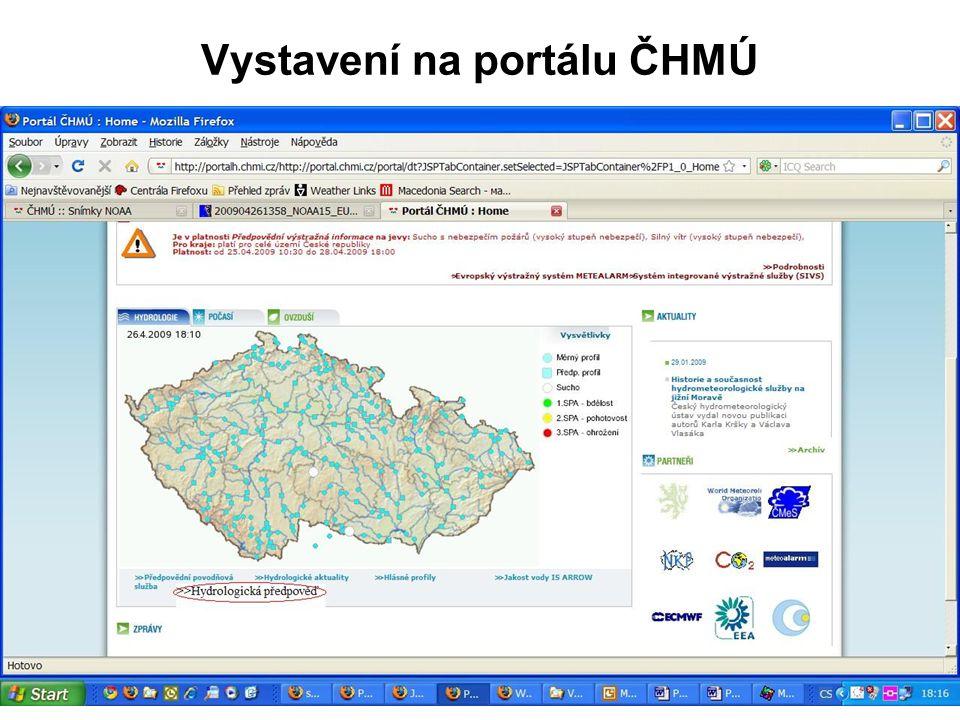 Vystavení na portálu ČHMÚ