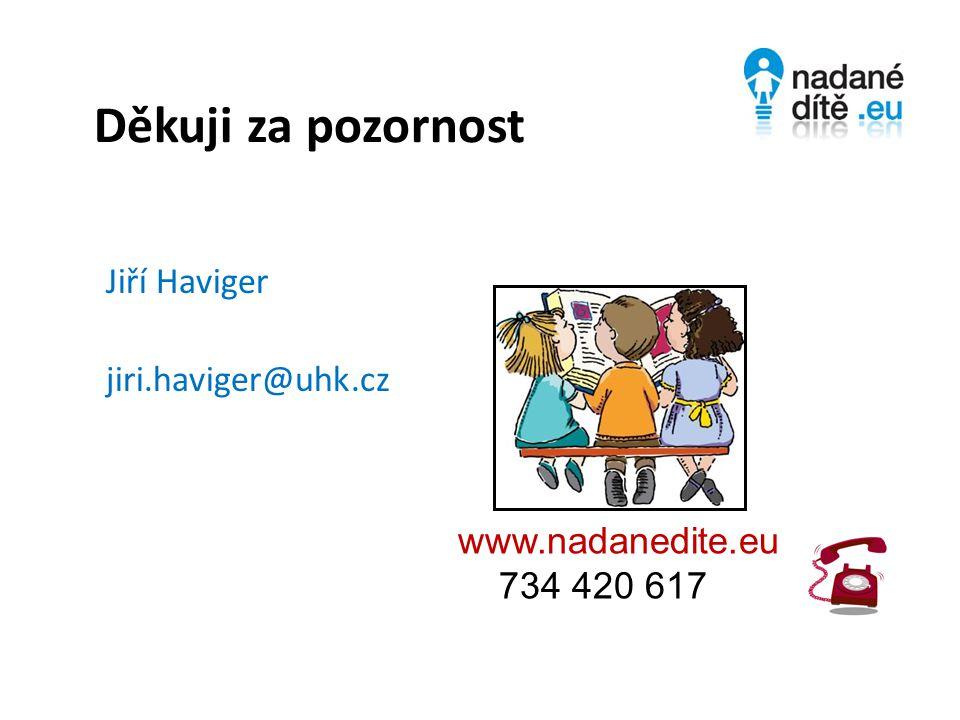 Děkuji za pozornost Jiří Haviger jiri.haviger@uhk.cz www.nadanedite.eu