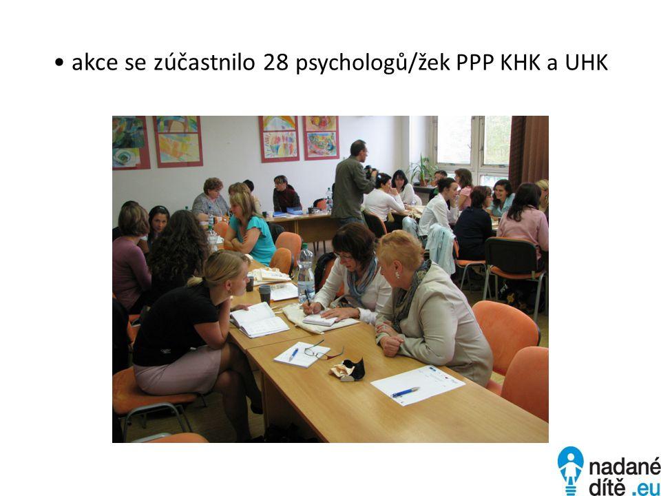 akce se zúčastnilo 28 psychologů/žek PPP KHK a UHK
