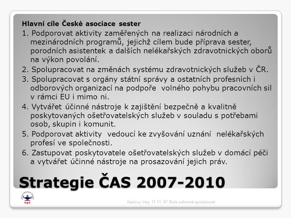 Hlavní cíle České asociace sester