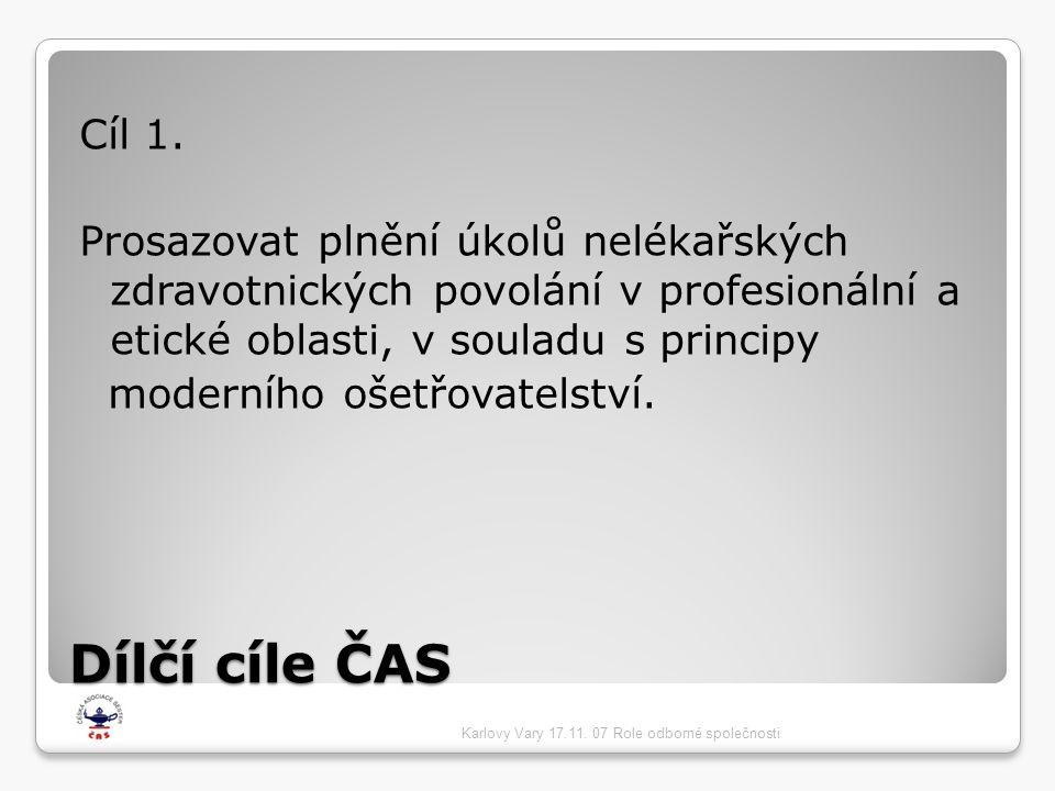 Cíl 1. Prosazovat plnění úkolů nelékařských zdravotnických povolání v profesionální a etické oblasti, v souladu s principy.