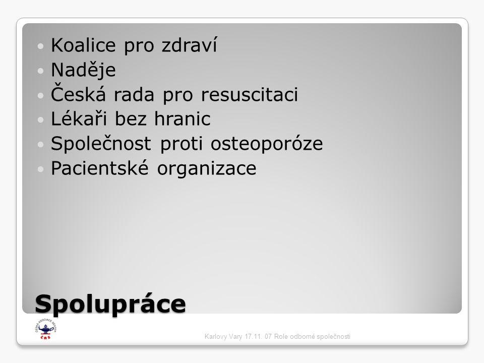 Spolupráce Koalice pro zdraví Naděje Česká rada pro resuscitaci
