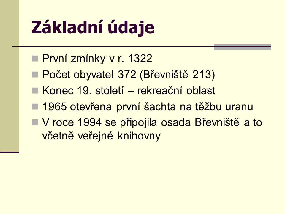 Základní údaje První zmínky v r. 1322