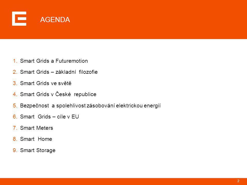 AGENDA Smart Grids a Futuremotion Smart Grids – základní filozofie