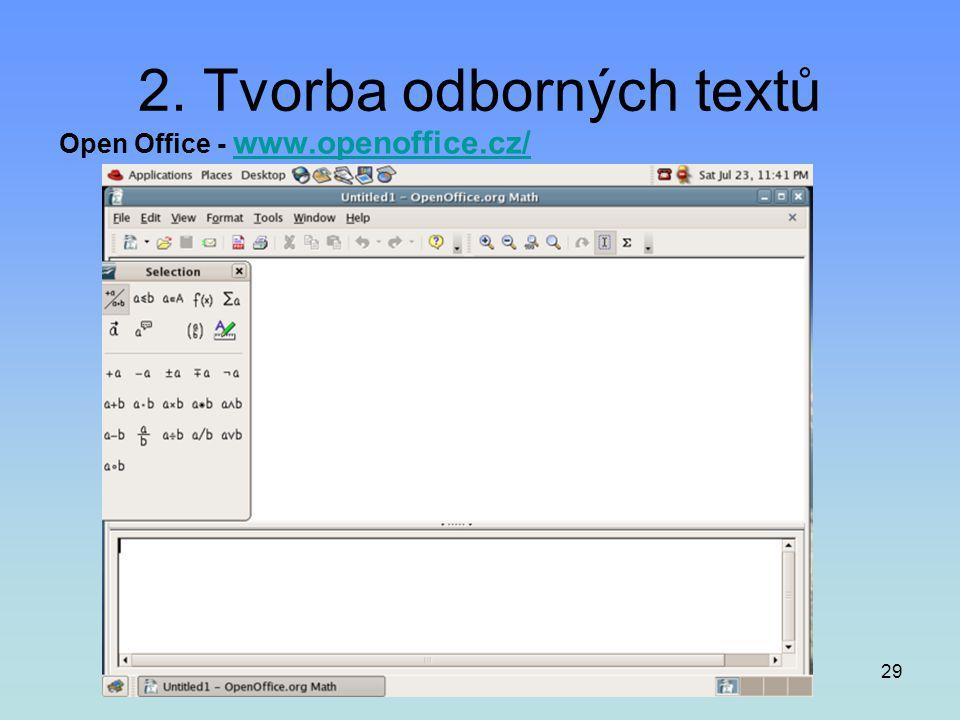 2. Tvorba odborných textů