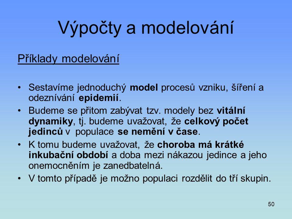 Výpočty a modelování Příklady modelování