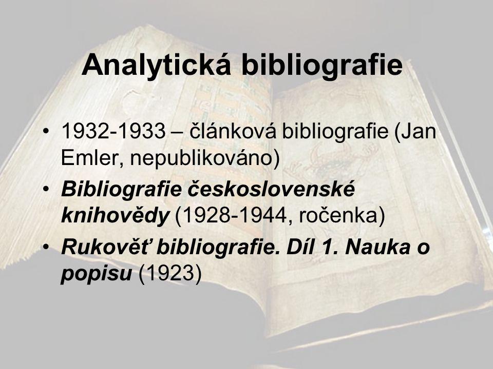 Analytická bibliografie