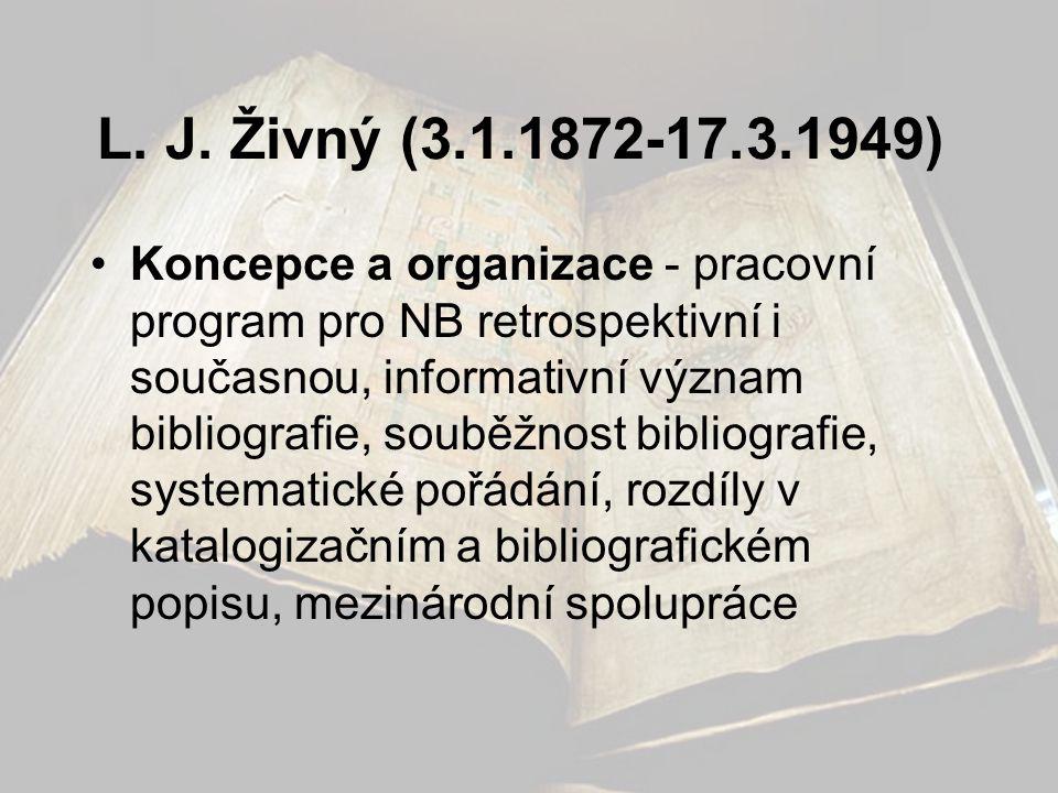 L. J. Živný (3.1.1872-17.3.1949)