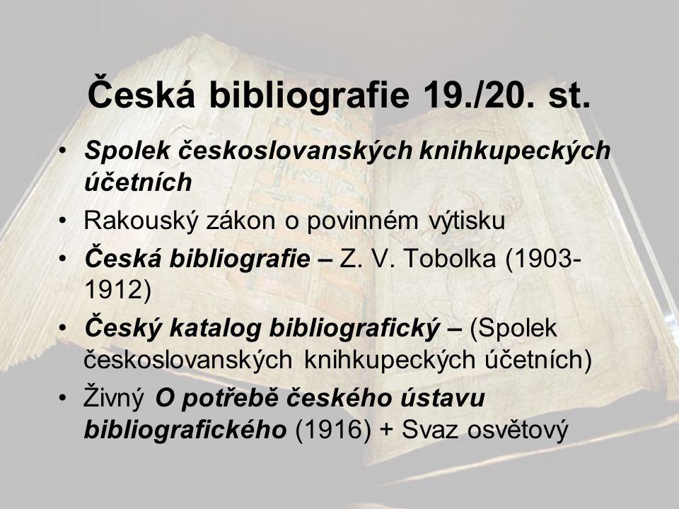 Česká bibliografie 19./20. st.