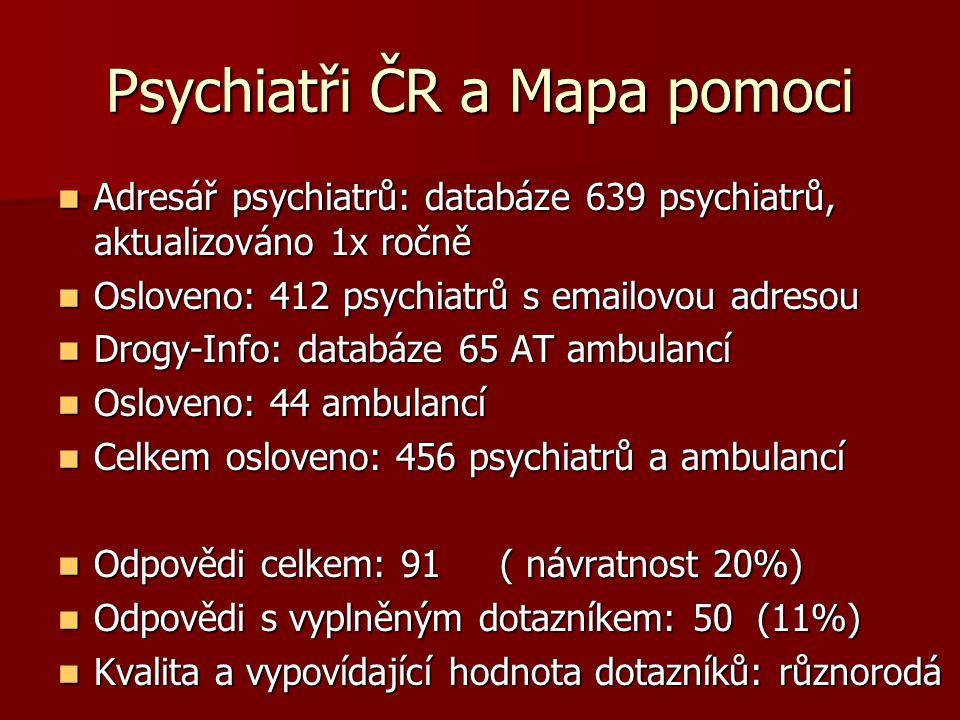 Psychiatři ČR a Mapa pomoci