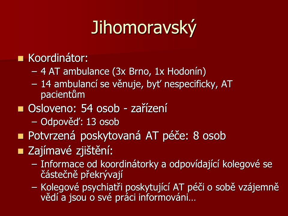 Jihomoravský Koordinátor: Osloveno: 54 osob - zařízení