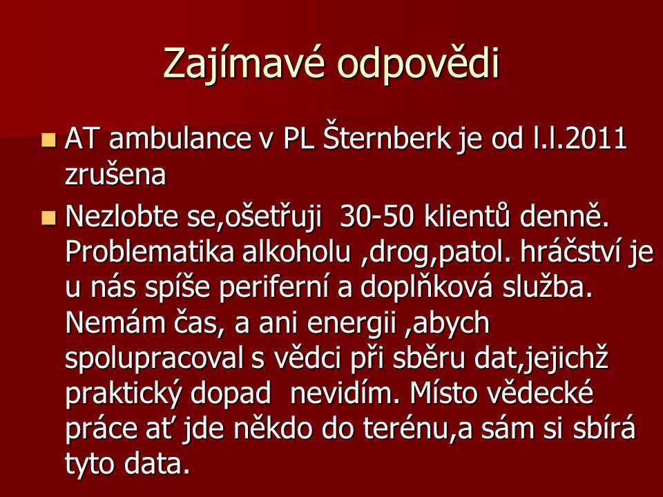 Zajímavé odpovědi AT ambulance v PL Šternberk je od l.l.2011 zrušena