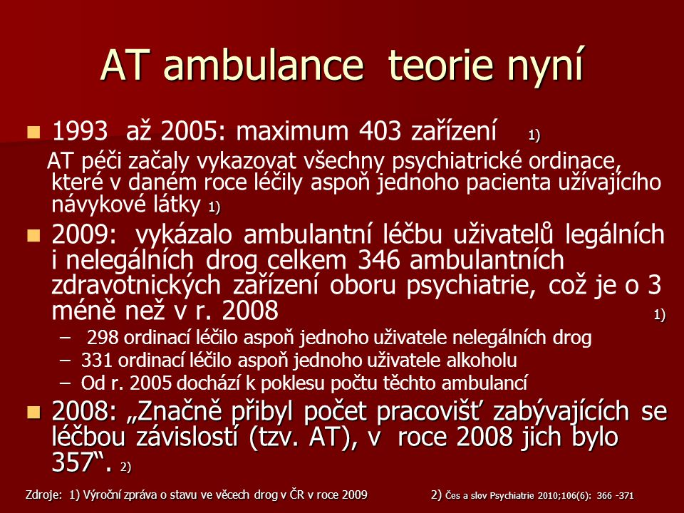 AT ambulance teorie nyní