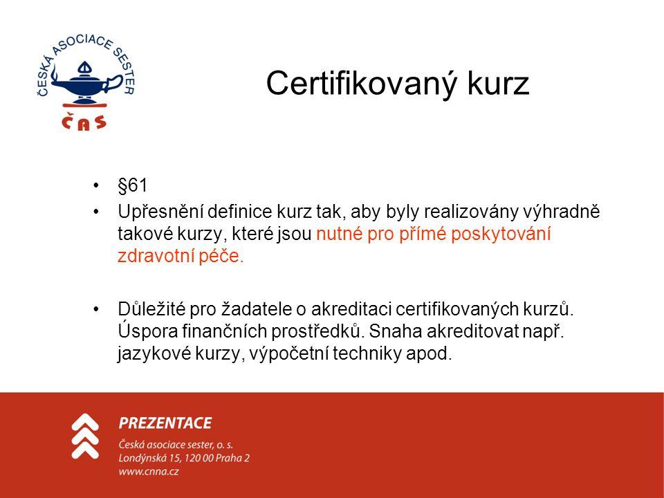Certifikovaný kurz §61.