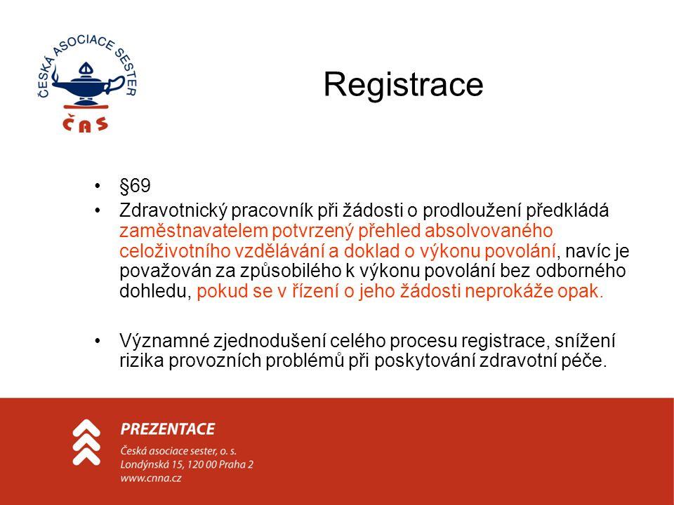 Registrace §69.