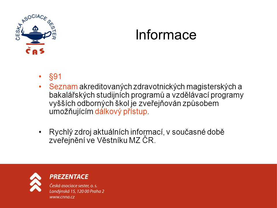 Informace §91.