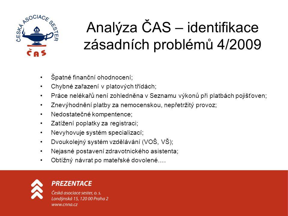 Analýza ČAS – identifikace zásadních problémů 4/2009