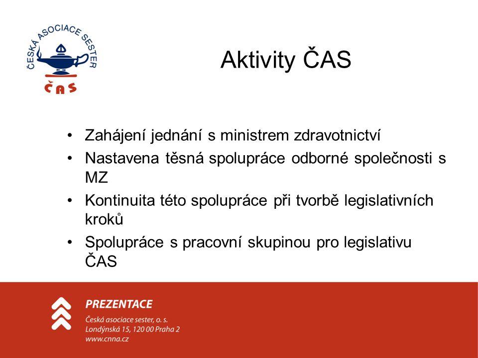 Aktivity ČAS Zahájení jednání s ministrem zdravotnictví