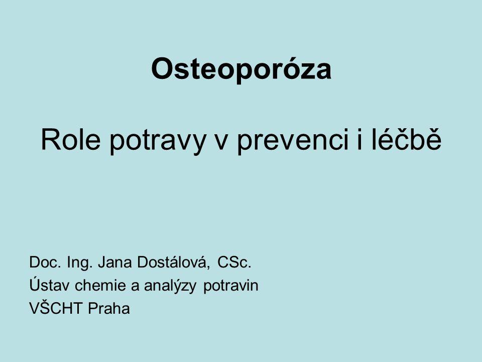 Osteoporóza Role potravy v prevenci i léčbě