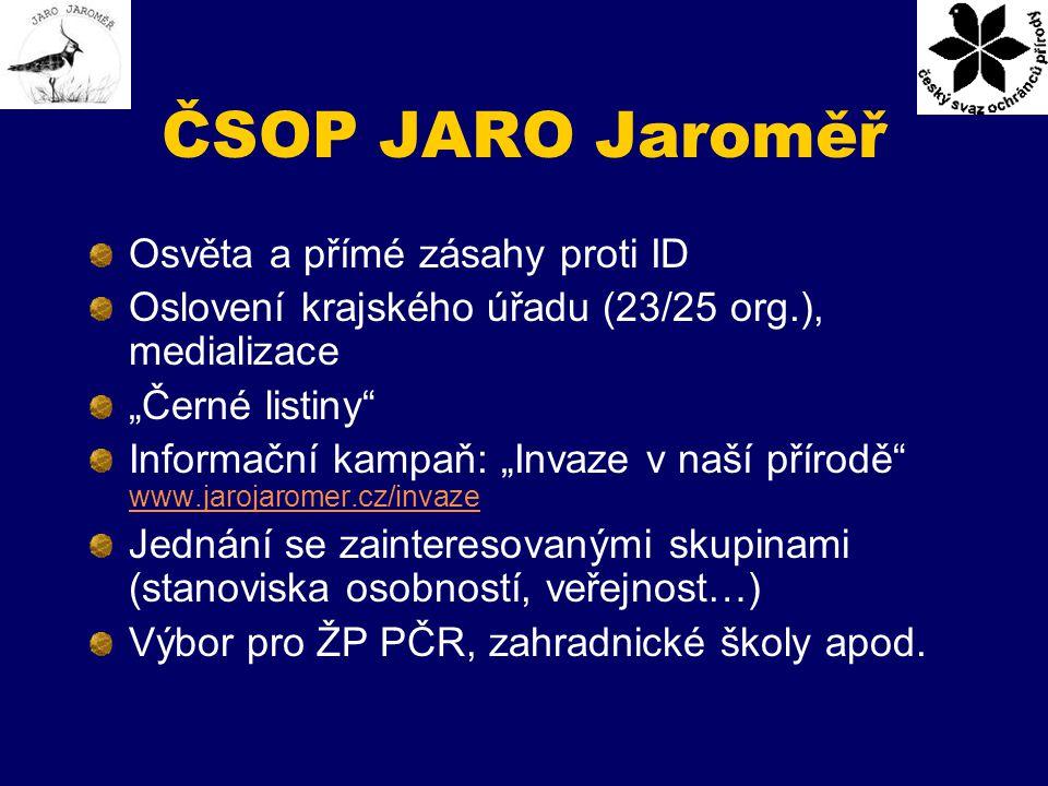 ČSOP JARO Jaroměř Osvěta a přímé zásahy proti ID