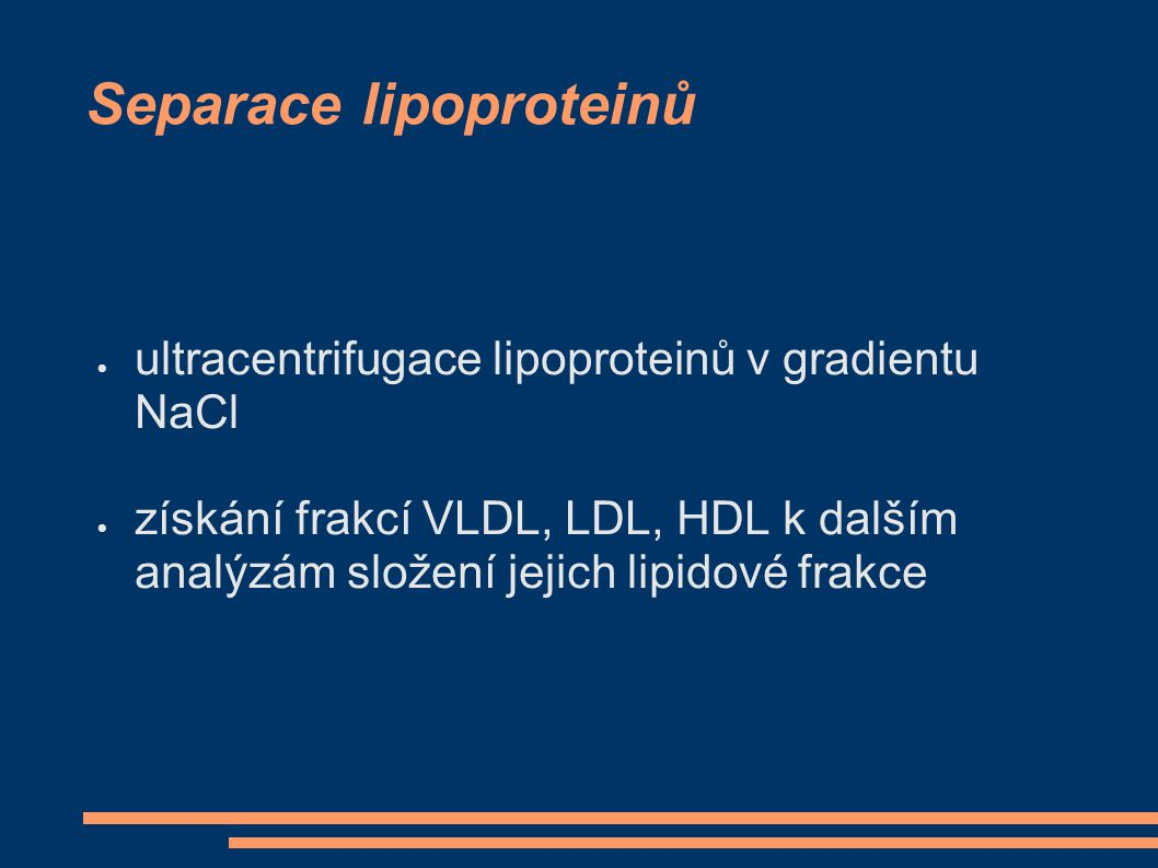 Separace lipoproteinů