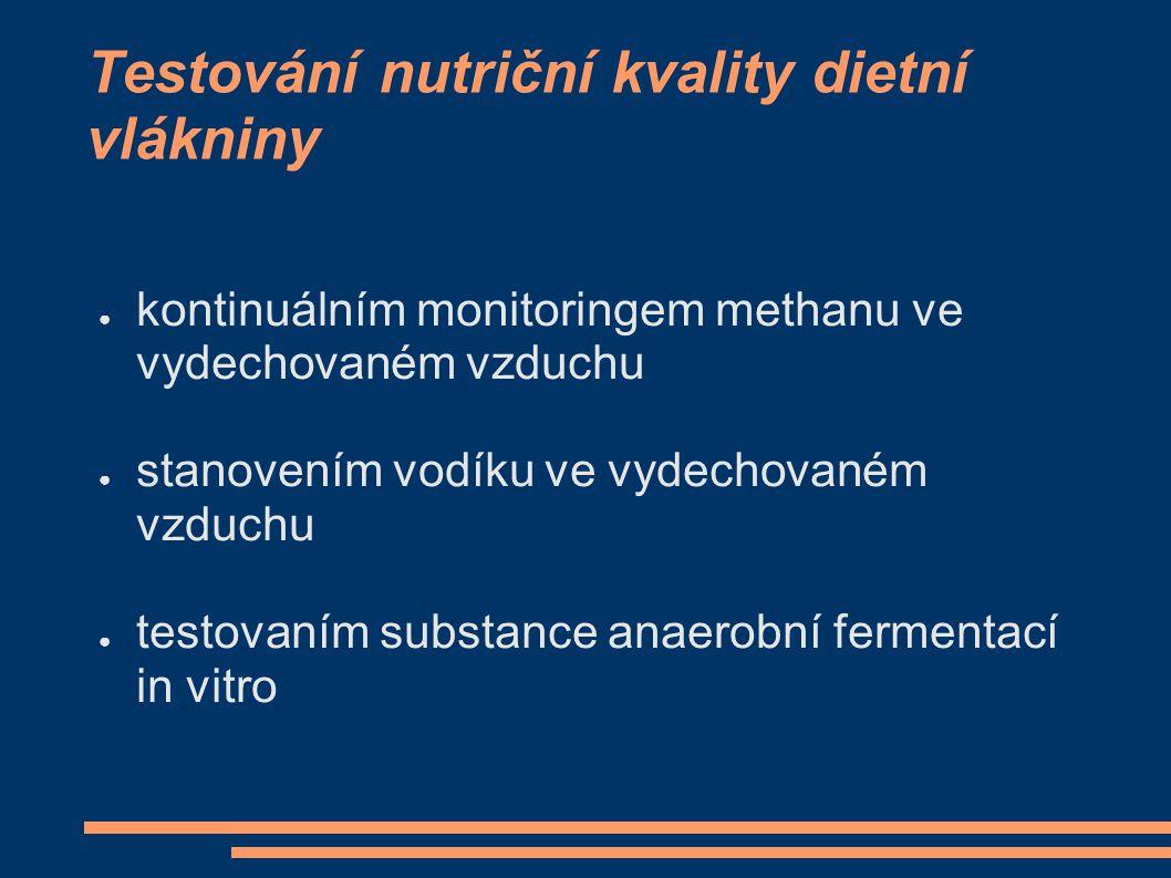 Testování nutriční kvality dietní vlákniny
