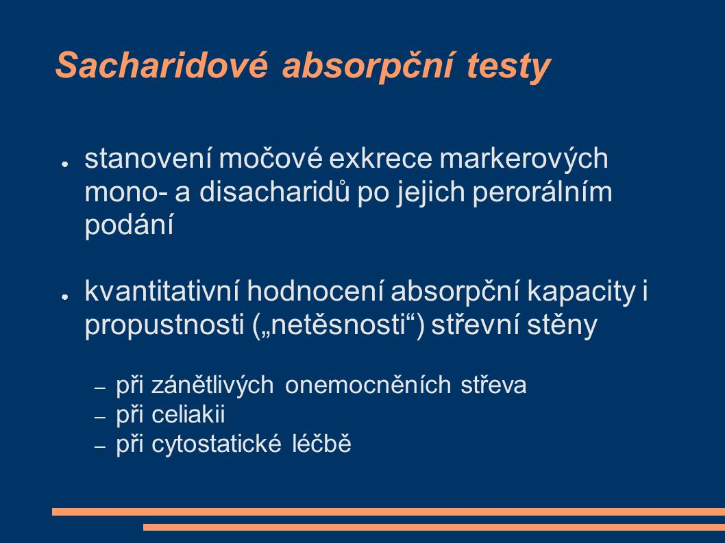 Sacharidové absorpční testy
