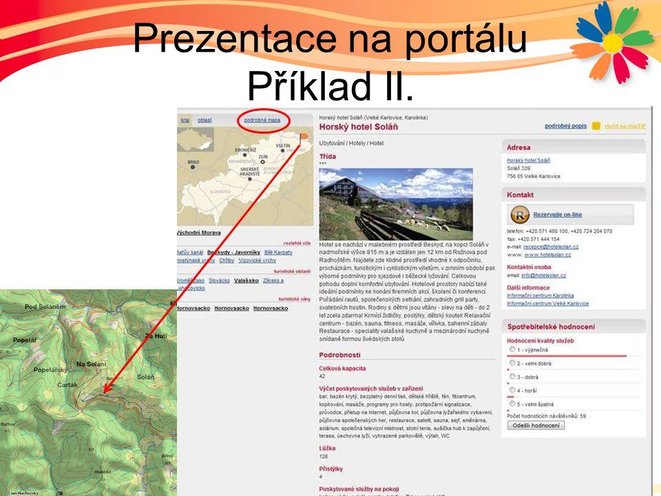 Prezentace na portálu Příklad II.