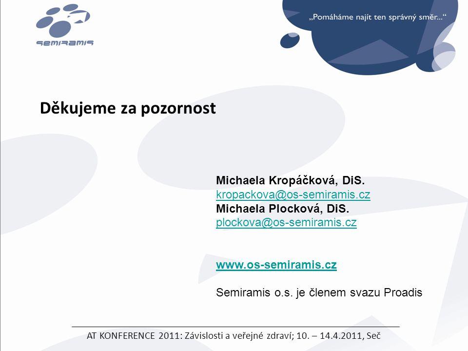 AT KONFERENCE 2011: Závislosti a veřejné zdraví; 10. – 14.4.2011, Seč