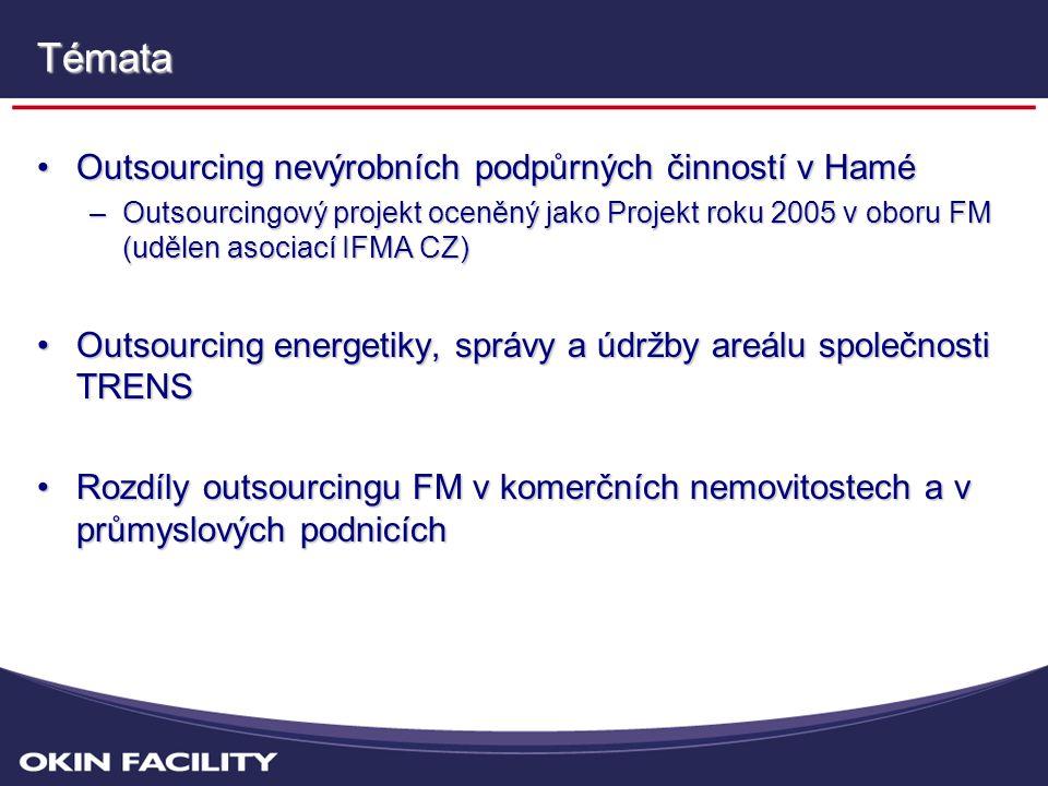 Témata Outsourcing nevýrobních podpůrných činností v Hamé