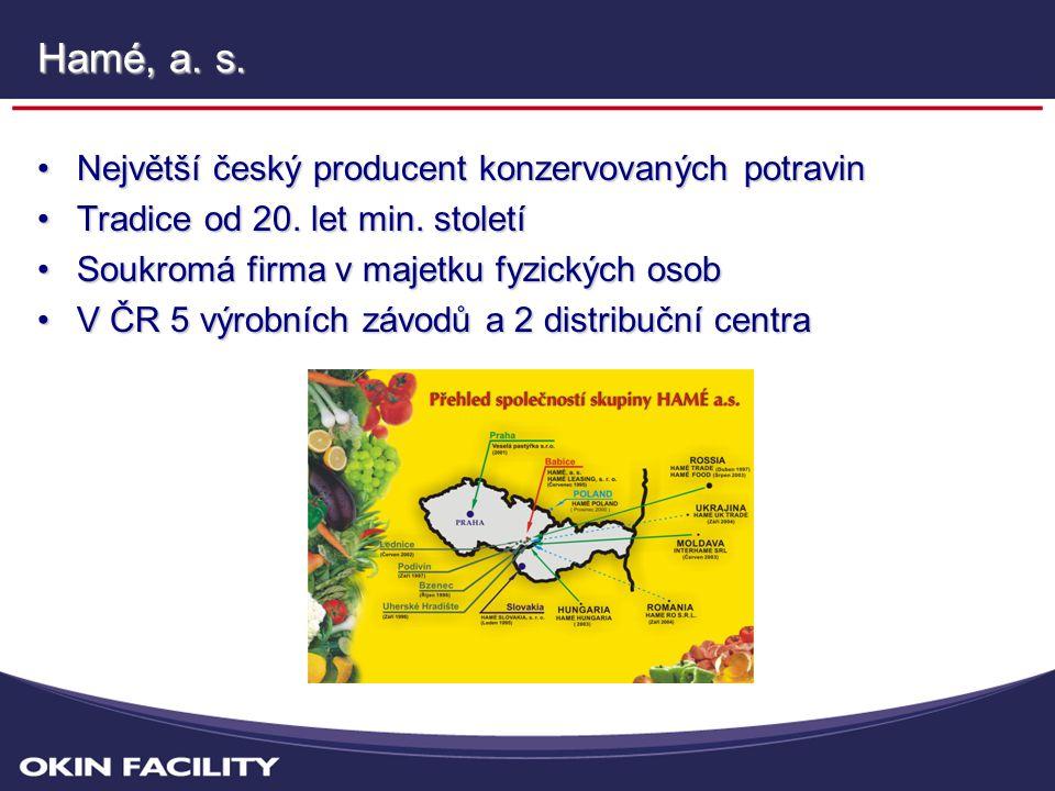 Hamé, a. s. Největší český producent konzervovaných potravin