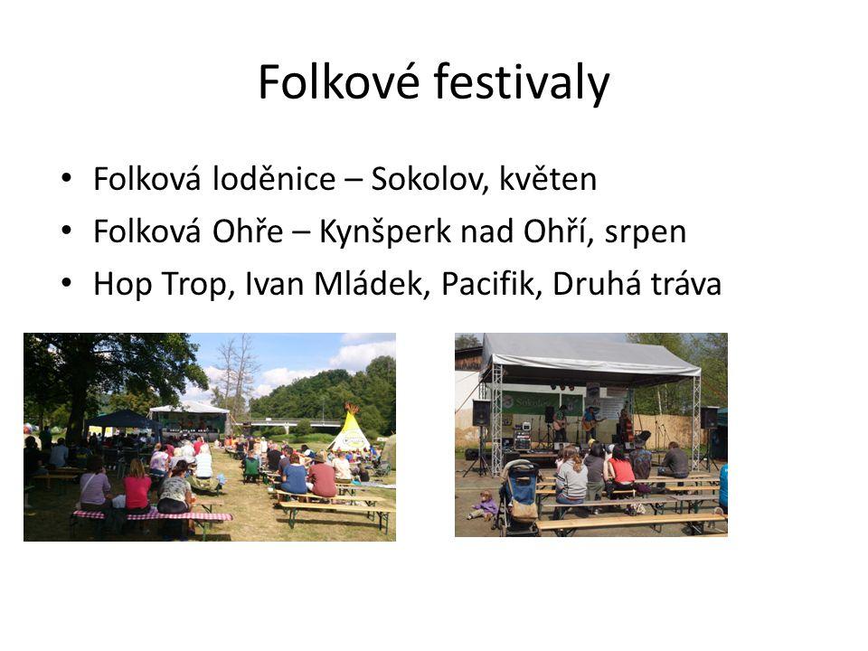 Folkové festivaly Folková loděnice – Sokolov, květen