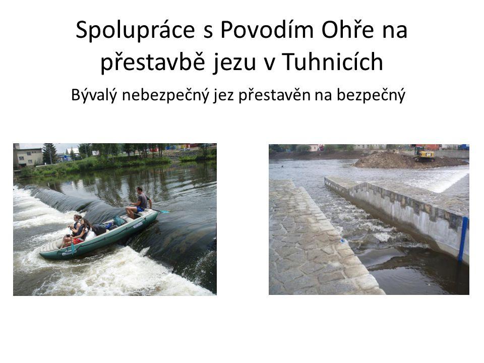 Spolupráce s Povodím Ohře na přestavbě jezu v Tuhnicích