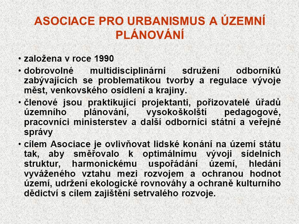 ASOCIACE PRO URBANISMUS A ÚZEMNÍ PLÁNOVÁNÍ