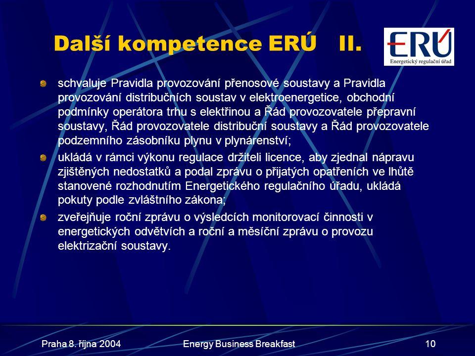 Další kompetence ERÚ II.