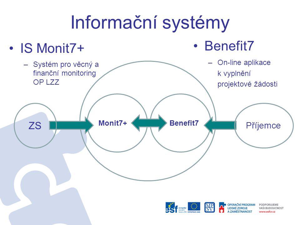 Informační systémy Benefit7 IS Monit7+ ZS Příjemce