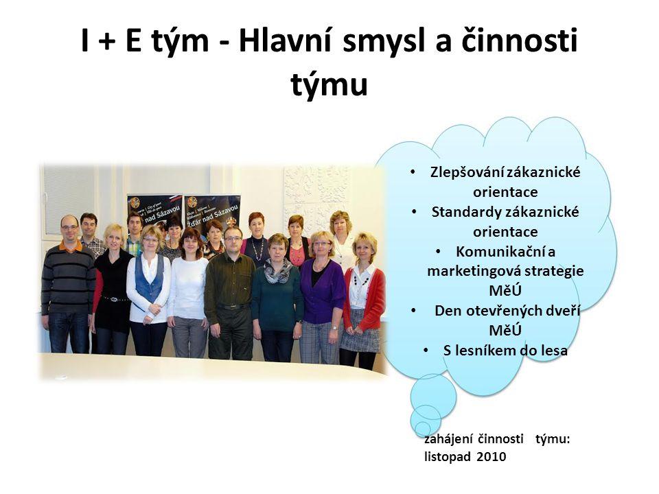 I + E tým - Hlavní smysl a činnosti týmu