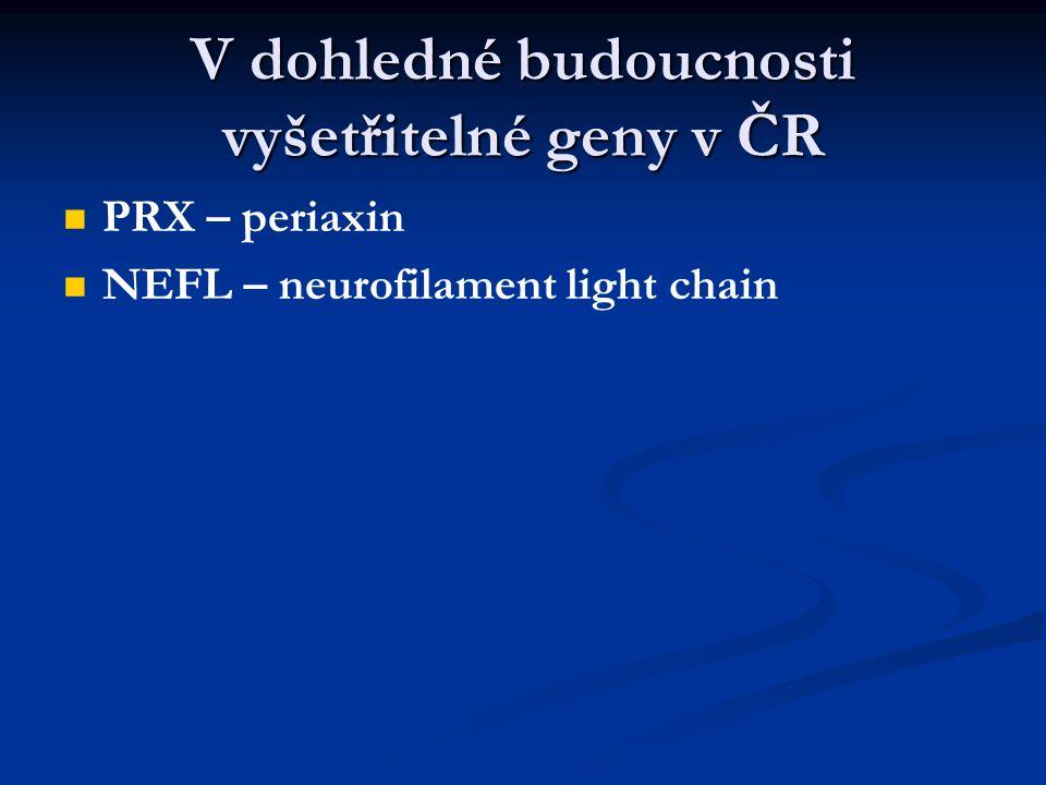 V dohledné budoucnosti vyšetřitelné geny v ČR
