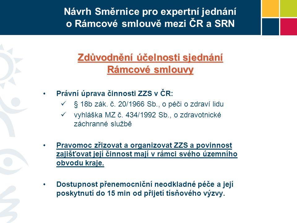 Návrh Směrnice pro expertní jednání o Rámcové smlouvě mezi ČR a SRN
